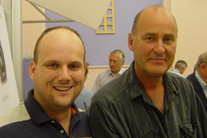 Mark Wilson and Charlie Waite in 2003