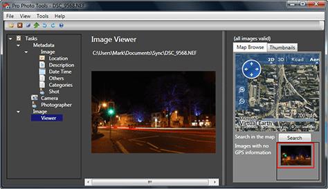 Nikon raw image viewed in Microsoft Pro Photo Tools