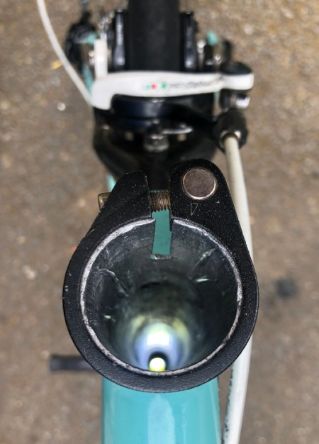 Seatpost removed