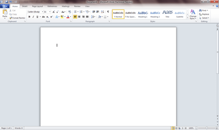 Word 2010 first look