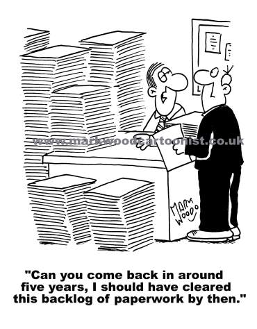 Image result for paperwork cartoons
