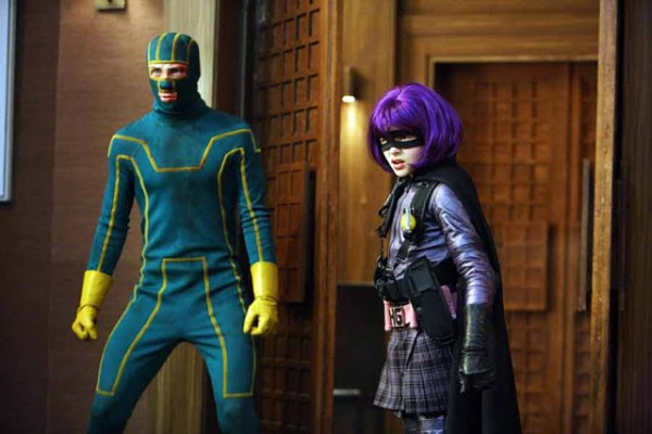 Aaron Taylor-Johnson et Chloë Grace Moretz dans Kick-Ass de Matthew Vaughn (2010)