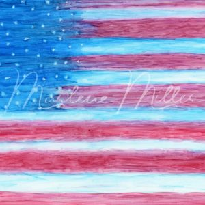 """""""American Flag"""" alcohol ink painting"""