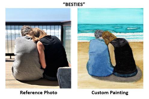 """Besties"" alcohol ink painting"