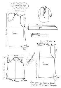 Molde da Blusa Laço tamanho 40.