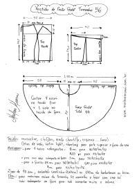 Esquema de modelagem de Vestido de Festa Godê curto tamanho 56.