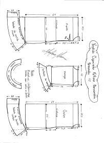 Esquema de modelagem de Vestido Ciganinha Fátima Bernardes tamanho 48.