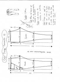 Esquema de modelagem de calça Swag tamanho M.