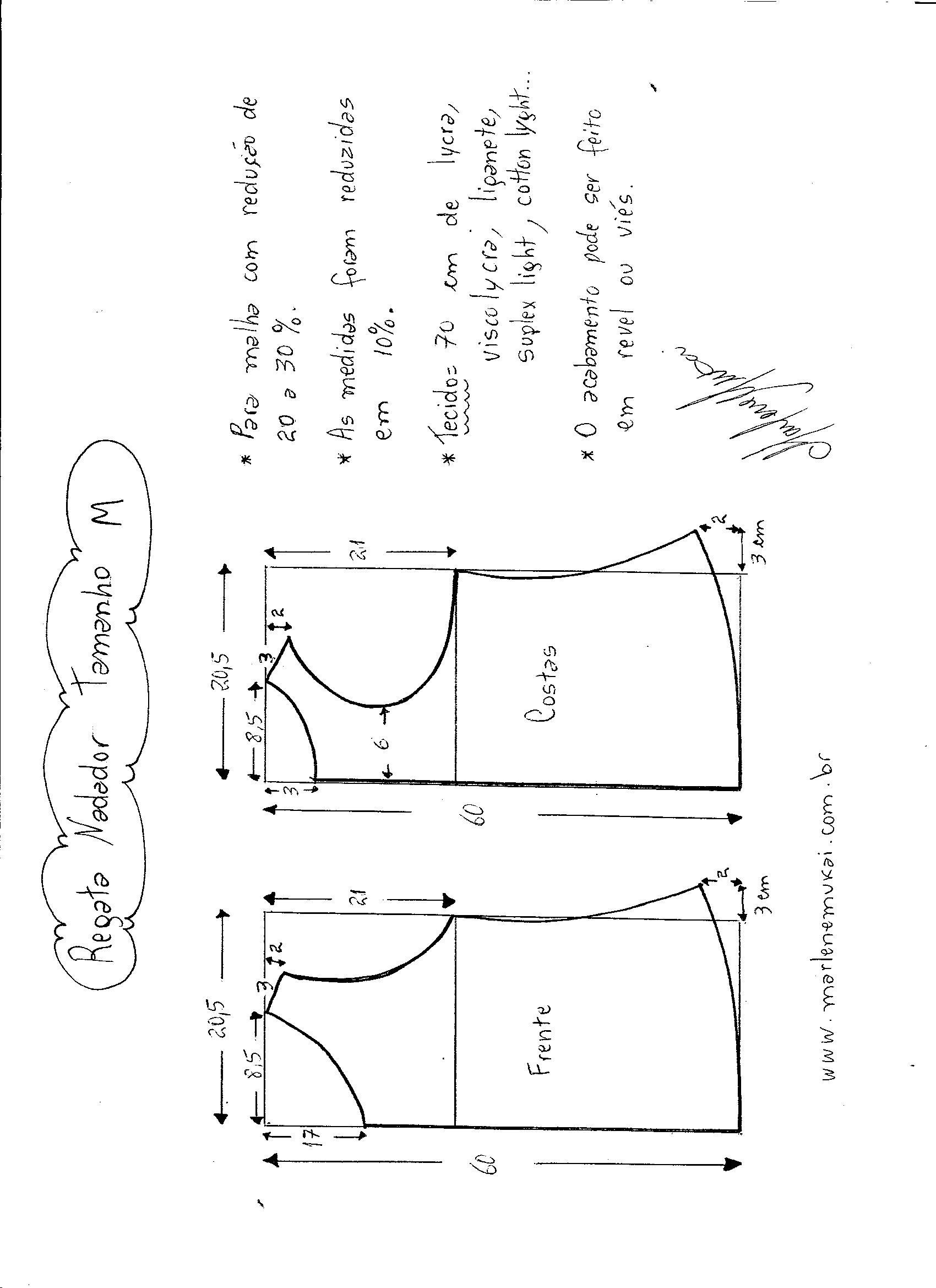 Esquema de Modelagem de regata nadador tamanho M. 4b463dcbc67