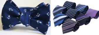 Dois modelos de gravatas tradicionais, a Gravata Borboleta e a Italiana. Segue esquema de modelagem de gravata borboleta e gravata italiana.