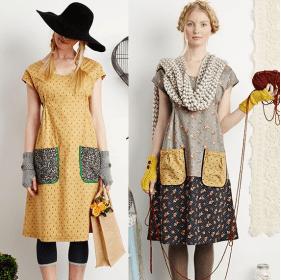 Um vestidinho simples, porém prático para o dia a dia que dá para fazer aproveitando restos de tecidos. Segue esquema de modelagem do 36 ao 56.