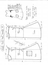 Esquema de modelagem de Vestido Dottie Angel tamanho 48.