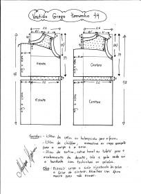 Esquema de vestido de festa estilo grego tamanho 44.