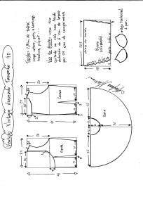 Esquema de montagem de vestido de festa vintage tamanho 40.