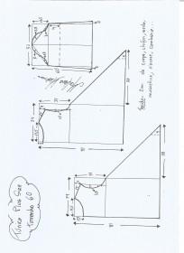 Esquema de modelagem de Túnica Plus Size tamanho  60.