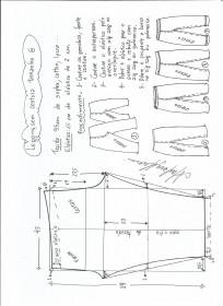 Esquema de modelagem de legging sem costura lateral G.