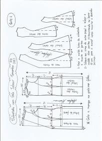 Esquema de modelagem de Sobretudo com gola jabour tamanho GG. 1ª Parte.