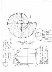 Esquema de modelagem de Sobretudo com gola jabour tamanho GG. 2ª Parte.