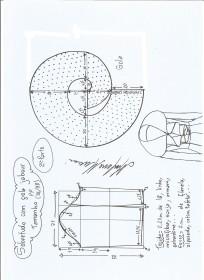 Esquema de modelagem de Sobretudo com gola jabour tamanho PP. 2ª Parte.