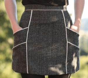 Uma sainha que veste bem qualquer tamanho com esquema de modelagem do 36 ao 56.