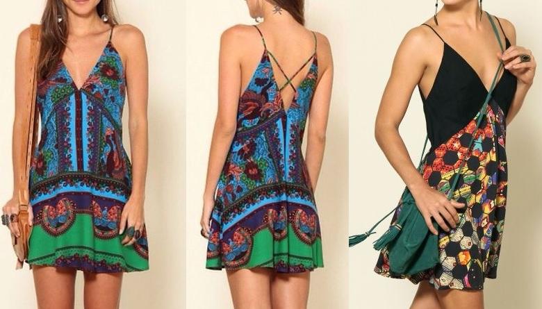 3d72e29126 Esquema de modelagem de vestido evasê com decote em
