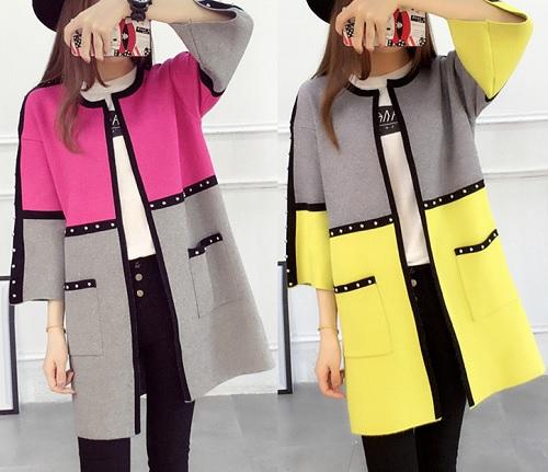 Esquema de modelagem de casaco sobretudo geométrico com manga 3/4 do 36 ao 56.