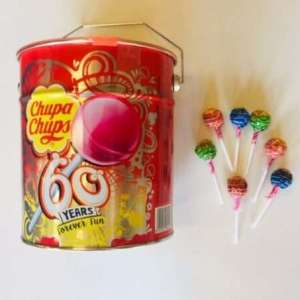 Chupa Chups 60 years 150pcs remise 10% par 3 bidons