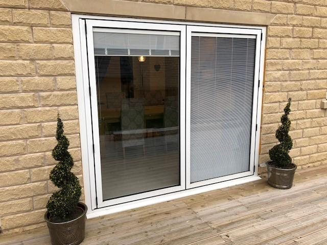 integral blinds sliding patio doors