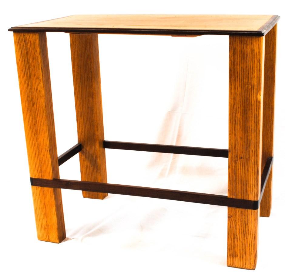 custom oak side table