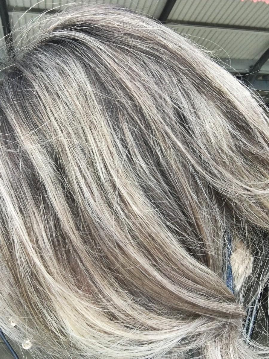 ashy hair balayage