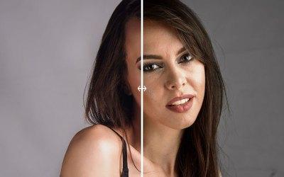 Retoque de piel con acciones de Photoshop