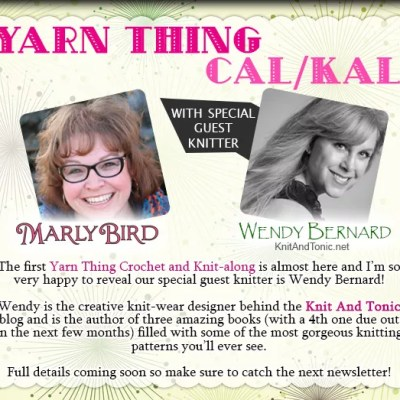 Yarn Thing CAL-KAL with Marly Bird and WENDY BERNARD!