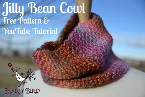 Jilly Bean Cowl Free Crochet Pattern and YouTube Tutorial from MarlyBird.com