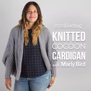 knitted cocoon cardigan with Marly Bird