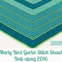 Marly Bird Garter Stitch Shawl Knit-along Section 1