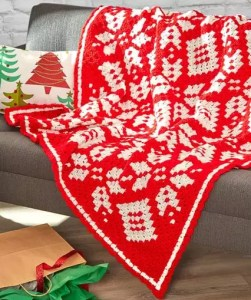 Snowflake Blanket C2C by Marly Bird Free Pattern and Video Tutorial