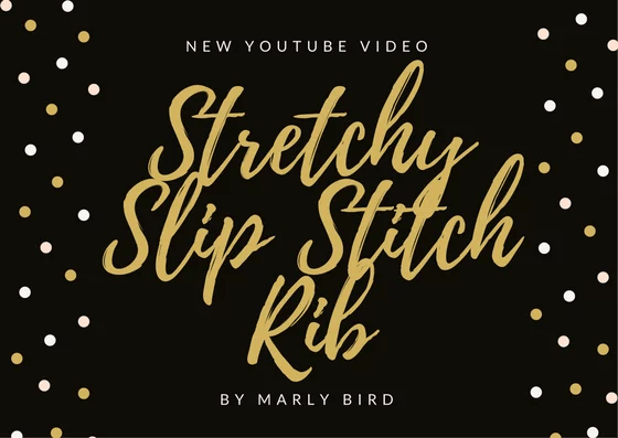 Crochet Stretch Slip Stitch Rib Tutorial by Marly Bird
