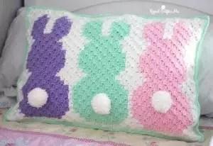 C2C Bunny Pillow Sham