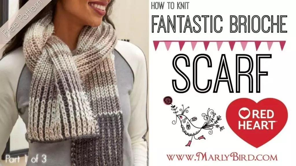 How to Knit Fantastic Brioche Scarf