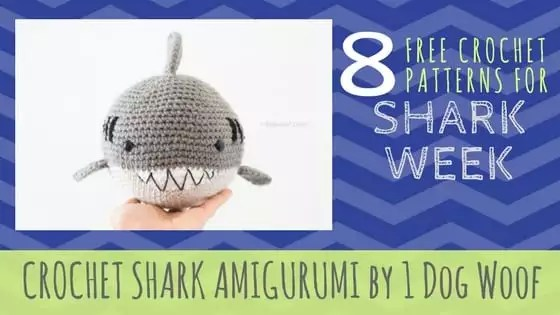 Crochet Shark Amigurumi by 1 Dog Woof