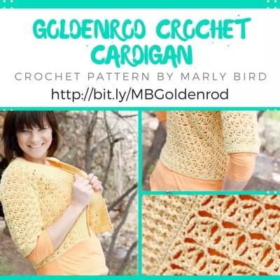 Goldenrod Crochet Cardigan Pattern by Marly Bird