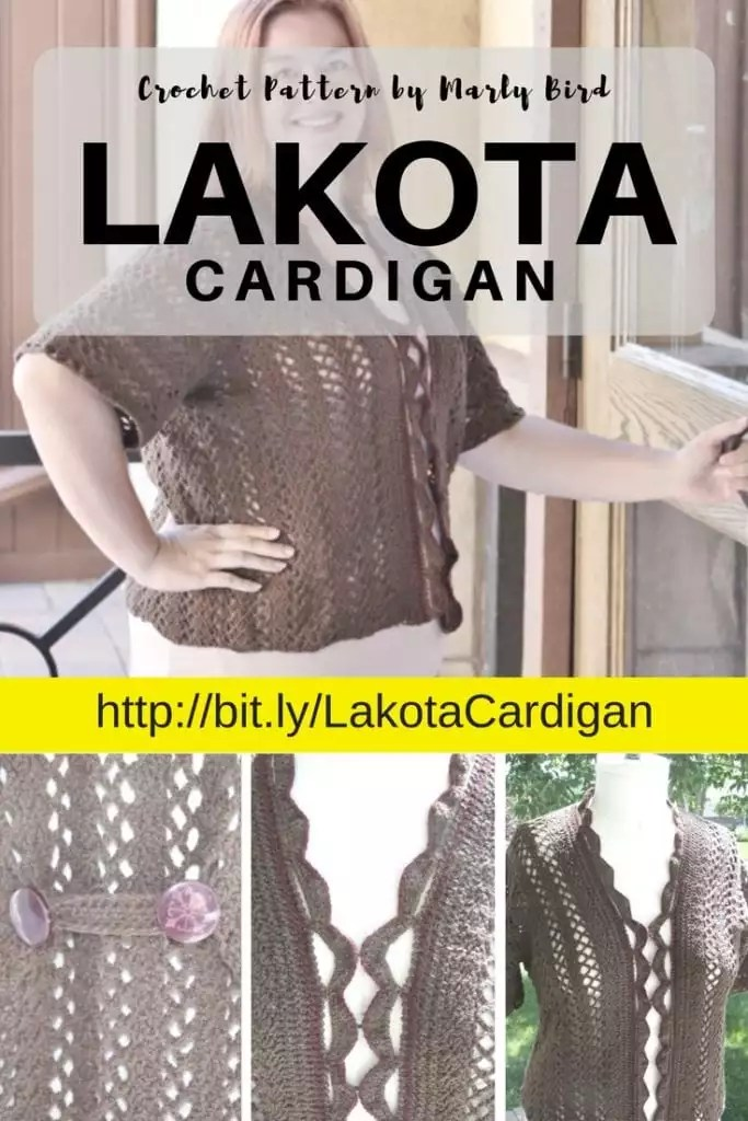 Lakota Crochet Cardigan designed by Marly Bird