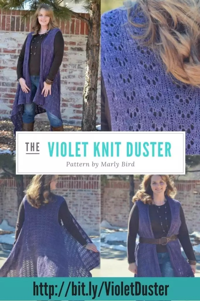 The Violet Duster-Knit pattern by Marly Bird