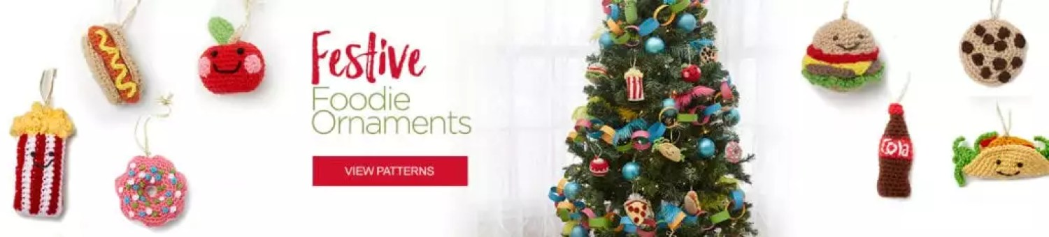 Festive Foodie Ornaments-FREE Red Heart Patterns
