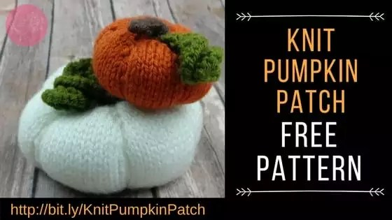 Knit your own pumpkin patch with this free knit pumpkin pattern from Marly Bird