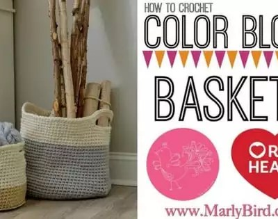 How to Crochet Hugge Color Block Crochet Baskets