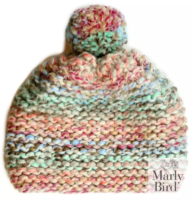 Absolute Beginner Chunky Knit Hat Pattern by Marly Bird