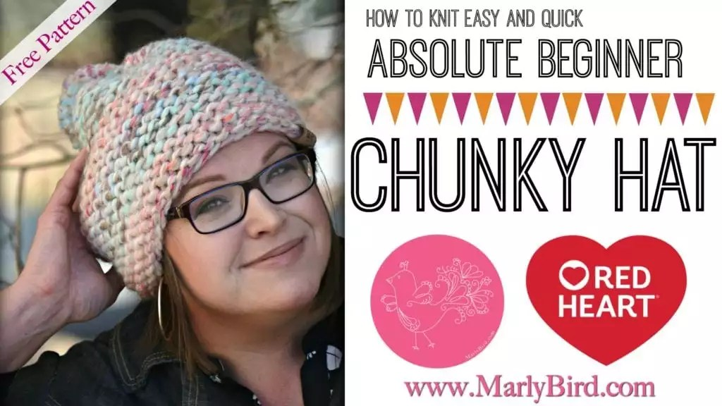 Video Tutorial How to Knit the easy and quick absolute beginner chunky hat