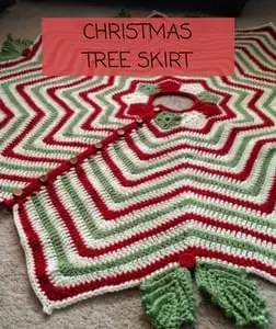 Free Crochet Christmas Tree Skirt Pattern-Christmas Tree Skirt