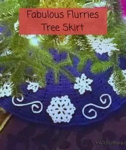 Free Crochet Christmas Tree Skirt Pattern Fabulous Flurries Tree Skirt